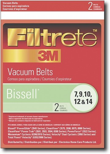 32074 Bissell Vacuum Cleaner Replacement Belt (2 Pack) front-350357