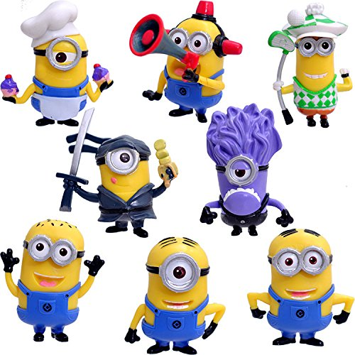 COSER® Despicable Me The Minions Display Collection Toy Action Figures Dolls 8pcs Set