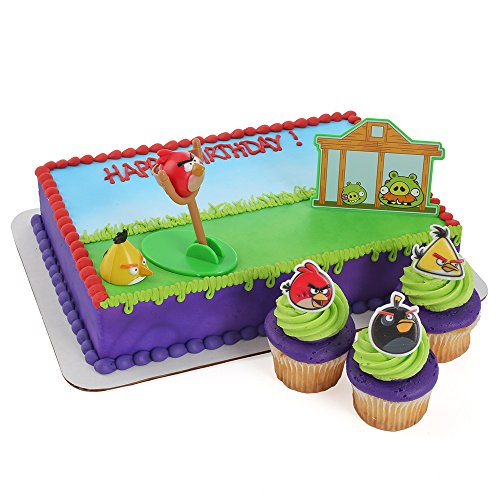 Angry birds cake toppers and cupcake decorations we buy for Angry birds cake decoration kit