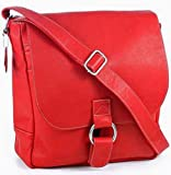 Cape Cod Leather Waterfront Laptop Messenger Bag (Red)