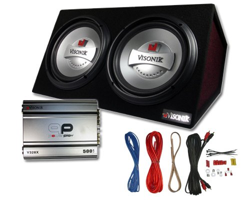 Enjoyable Visonik Vb312 1000 Watt Dual 12 Car Subwoofer Box W Amp Wiring Wiring Database Wedabyuccorg