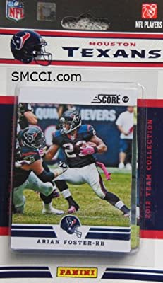 2012 Score Houston Texans Factory Sealed 12 Card Team Set Including Matt Schaub, Arian Foster, Andre Johnson, Owen Daniels, Case Keenum, Devier Posey, Jared Crick, Whitney Mercilius, Kevin Walter, Brian Cushing and Keshawn Martin.