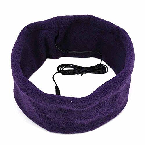 Tas Online Mall Sleeping Mask With Headphone In Comfy Headband- Purple