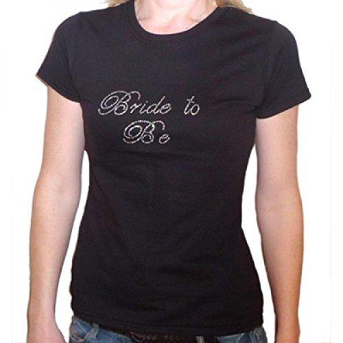 Mother of the Bride T Shirt - XL Ladies BLK STD Fit R/Stone Crystal - 44-46'' (XRSTT007-MOTB)