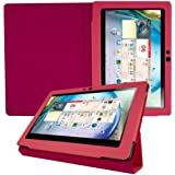 kwmobile Elegant synthetic leather case for Lenovo IdeaTab S6000 in Hot Pink with convenient STAND FEATURE