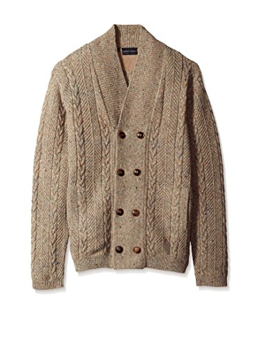 Bobby Jones Men's Wool Cable Cardigan Sweater