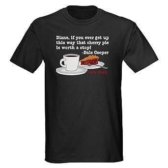CafePress Twin Peaks Diane Cherry Pie Dark T-Shirt