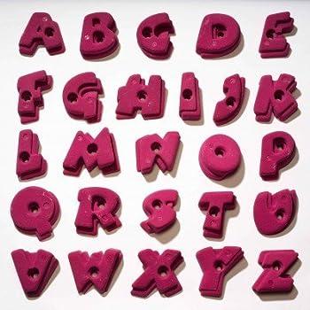 prises d'escalade Set Alphabet, Farbe:pink