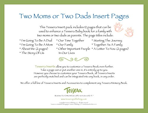 Tessera Baby Books Baby Memory Book Insert Pack, Two Moms or Two Dads - 1
