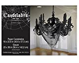 Haunted Candelabra with Gauze Decoration