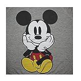 Disney Mickey Mouse Sitting Juniors Crewneck Long Sleeve Light Sweatshirt