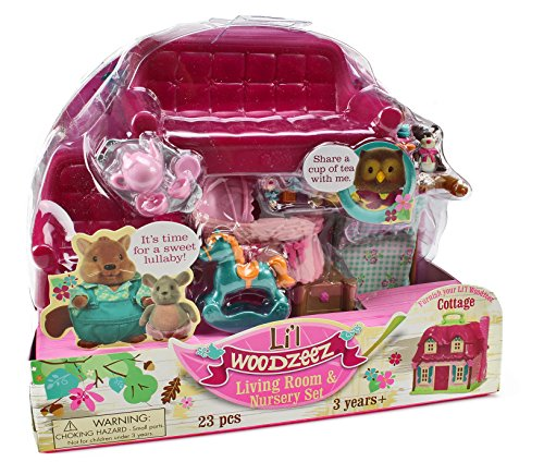 Lil Woodzeez Living Room and Nursery Set - Can Be Used With All Families and Environments - Ages 3+ (All Lil compare prices)