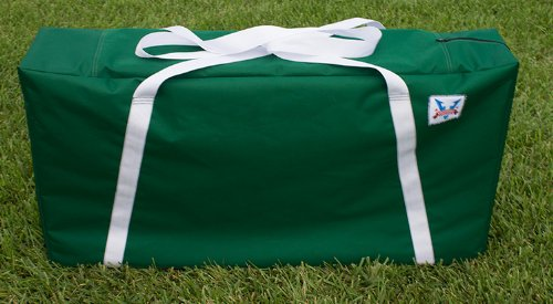 Green  White Straps Cornhole Carrying Case (Full