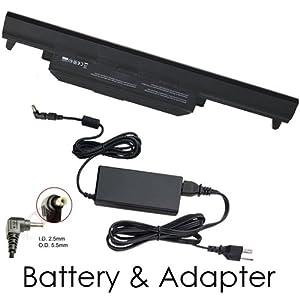Asus R500VD-SX649H Laptop Battery and 90 Watt Adapter - Premium Powerwarehouse 6 Cell Battery and 90 Watt Adapter Combo