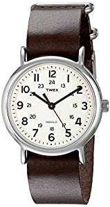 "Timex Unisex T2N893 ""Weekender"" Watch with Leather Band"