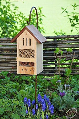 insektenhotel mit metallstiel sch ferstab 1 25 m h he robust bd mms holz nistkasten natur. Black Bedroom Furniture Sets. Home Design Ideas