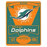 Officially Licensed NFL Marque Fleece Throw Blanket - Miami...