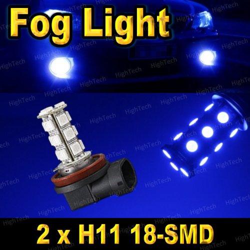 Pair Ultra Blue H11 18-Smd 5050 Led Headlight Bulbs For Driving Fog Light / Day Time Running Light Drl