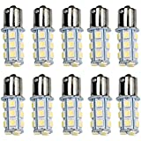 HOT SYSTEM™ 1156 7506 1003 1141 LED SMD 18 LED Bulbs Interior RV Camper White 10-pack