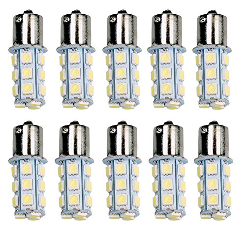 HOT SYSTEM™ New 1157 18 LED SMD Light Bulbs Interior RV Camper Cool White 10-pack