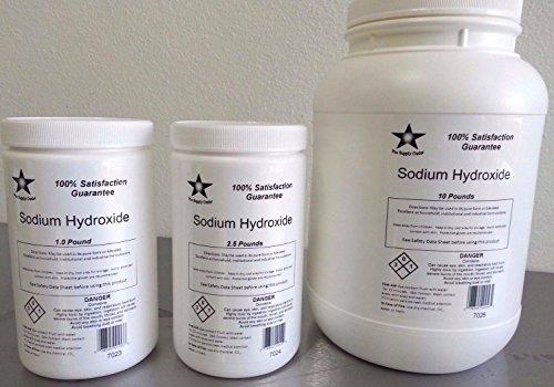 Sodium Hydroxide 98% Pure (Caustic Soda, Lye) Micro Beads FCC/ Food Grade 5 Lb (Micro Pure Air Cleaner compare prices)