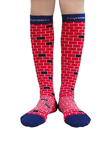 compression-socks-brick-red-xl-20-30mmhg-men-women-fun-running-casual-socks