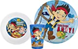 Disney Jake and the Neverland Pirates Mealtime Dish Set (Plate, Bowl, Cup)
