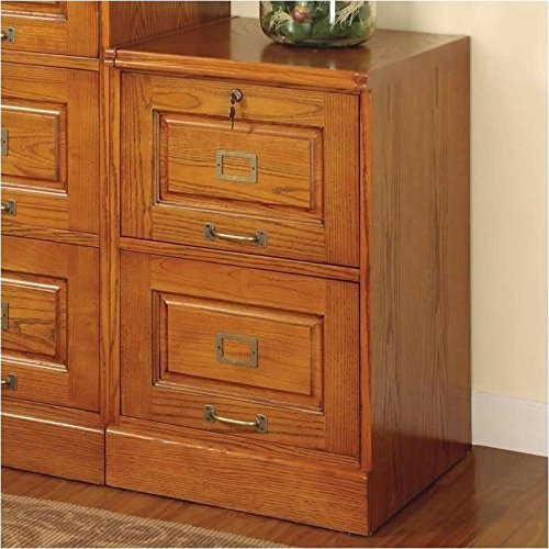 Coaster Home Furnishings 5317N Traditional File Cabinet, Oak (Solid Oak File Cabinet compare prices)