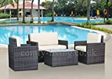 END OF SUMMER CLEARANCE Rattan Garden Furniture Set Chairs SofaTable Outdoor Patio