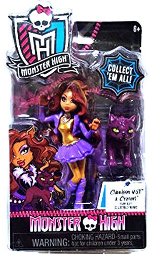 Monster High Clawdeen Wolf & Cresent Scary Cute Collectible Figure
