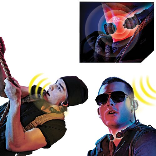 (Set Of 2) Stealth Walkie Talkies: Throat Microphones & Attached Earpiece