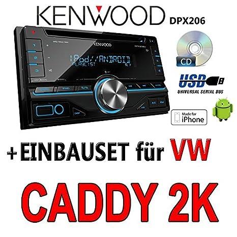 Volkswagen caddy 2-k kenwood dPX 206-2DIN uSB avec kit de montage