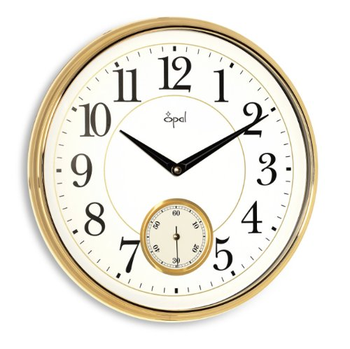 Opal Opal Arabic Numerals Side Second Clock