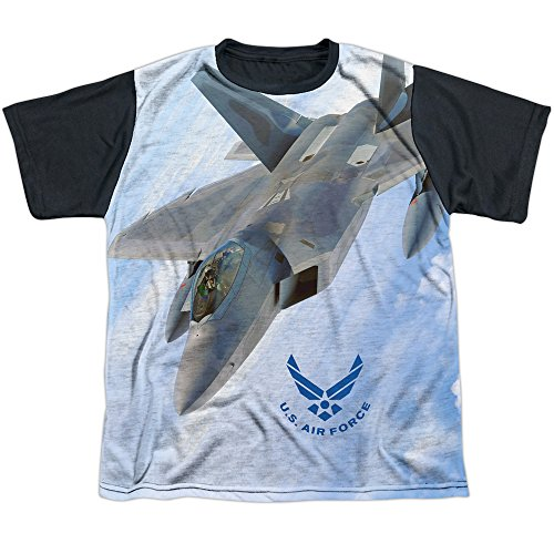 Air Force Fly By Big Boys Sublimation Shirt White MD (Hand Fan With Camo Print compare prices)