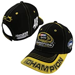 Buy 2013 Sprint Cup Champion Championship Hat Jimmie Johnson #48 Yellow Champion Logo On Bill Black With White & Yellow... by NASCAR