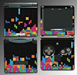 Tetris Retro Look Original Blocks Video Game Vinyl Decal Cover Skin Protector Sticker for Nintendo GBA SP Gameboy Advance Game Boy