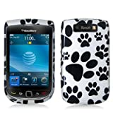 Dog Paw Design Crystal Hard Skin Case Cover for Blackberry Torch 9800 Phone by Electromaster