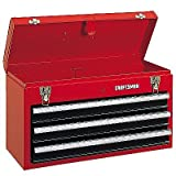 Craftsman 3-Drawer Metal Portable Chest Toolbox Red (Color: red)