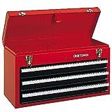 3-caj�n Metal Portable Artesano herramientas wsmxdf color rojo
