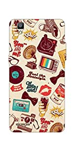 Go Hooked Oppo F1 Plus Printed Soft Silicone Mobile Back Cover