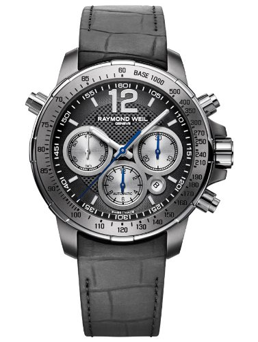 Raymond Weil Nabucco Black Dial Titanium Stainless Steel Rubber Mens Watch 7700-TIR-05207
