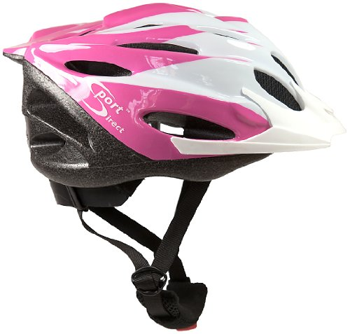 Sport-DirectTM-22-Vent-Bicicletta-Casco-Ragazze-Rosa-54-56cm