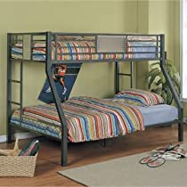 Hot Sale Powell Monster Bedroom® Twin/Full Bunk Bed