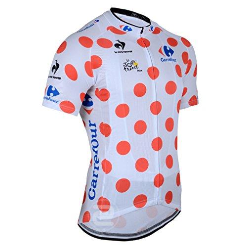 Ads Spot Tour De France Men'S Short Sleeve Spot Cycling Jersey Quick Dry Breathable Mountain Clothing Bike Top (Xl) front-479661