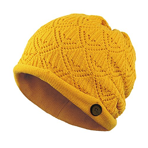 Pure Color Crotche Knitted Beanie Hat Cap With Button Accent Design.<Br> Comfortable Cozy Soft Wool Warm Beanie Hat With Cute Soft Wool Style Ultra Warm And Soft Spandex Wool Hat Perfect For Cold Winter Season.<Br> It'S The Best Christmas X'Mas Gift For Y