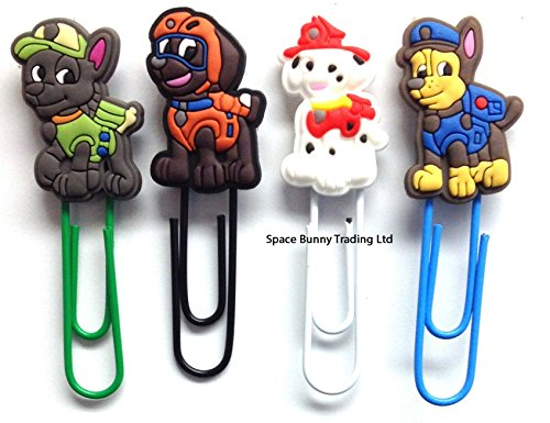 paw-patrol-four-piece-paperclip-bookmark-set-uk-shipped