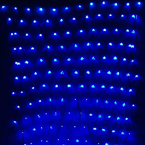 Gbb 110V 204Led Mesh Net String Party Lights For Christmas & Halloween Wedding Decoration. 8 Different Modes ( Blue 3M X 2M/9.8Ft X 6.5Ft ) Xmas Sale ! Shop Now For Best Price Of Season!!!