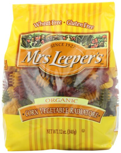 Mrs. Leeper's Pasta Organic, Corn Vegetable Radiatore, 12-Ounce Bags (Pack of 12) (Mrs Leepers Corn compare prices)