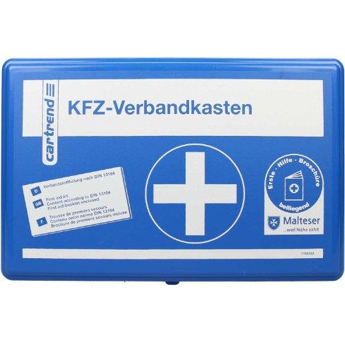 Cartrend-7700126-Verbandkasten-Classic-mit-Malteser-Erste-Hilfe-Sofortmanahmen-DIN-13164-Blau