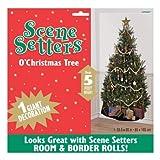 【クリスマス装飾デコレーション】シーンセッター オークリスマスツリー1枚(1パック)  (おまけ紙風船付き セット)